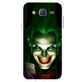 Snooky Printed Loughing Joker Mobile Back Cover For Samsung Galaxy J5 - Green