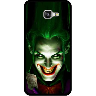 Snooky Printed Loughing Joker Mobile Back Cover For Samsung Galaxy A5 2016 - Green