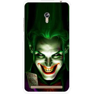 Snooky Printed Loughing Joker Mobile Back Cover For Asus Zenfone 6 - Green