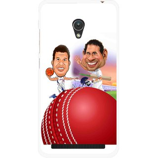 Snooky Printed Play Cricket Mobile Back Cover For Asus Zenfone 5 - Multicolour