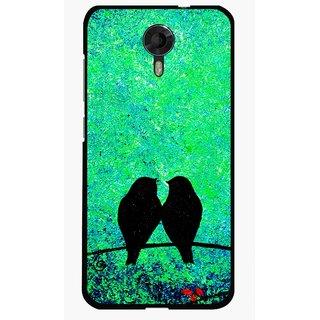 Snooky Printed Love Birds Mobile Back Cover For Micromax Canvas Xpress 2 E313 - Green