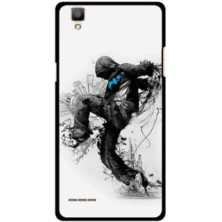 Snooky Printed Enjoying Life Mobile Back Cover For Oppo F1 - Multi