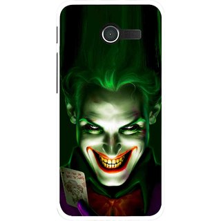 Snooky Printed Loughing Joker Mobile Back Cover For Asus Zenfone 4 - Green