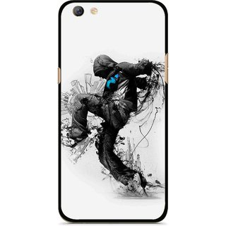 Snooky Printed Enjoying Life Mobile Back Cover For Oppo F3 plus - Multi