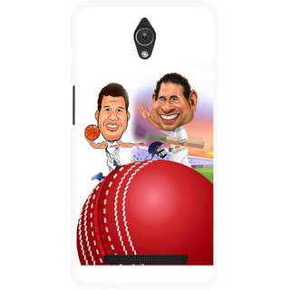 Snooky Printed Play Cricket Mobile Back Cover For Asus Zenfone C - Multicolour
