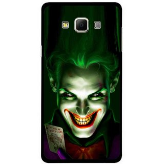 Snooky Printed Loughing Joker Mobile Back Cover For Samsung Galaxy E5 - Green
