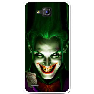 Snooky Printed Loughing Joker Mobile Back Cover For Huawei Honor 3C - Green