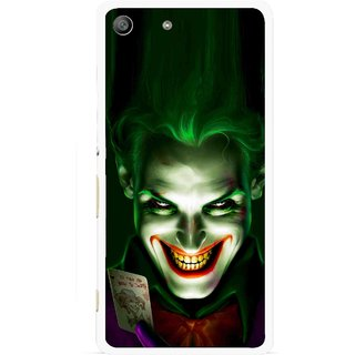 Snooky Printed Loughing Joker Mobile Back Cover For Sony Xperia M5 - Green