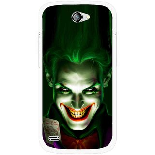 Snooky Printed Loughing Joker Mobile Back Cover For Gionee Pioneer P3 - Green