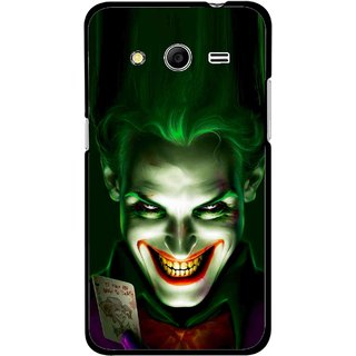 Snooky Printed Loughing Joker Mobile Back Cover For Samsung Galaxy G355 - Green