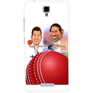 Snooky Printed Play Cricket Mobile Back Cover For Gionee Pioneer P4 - Multicolour