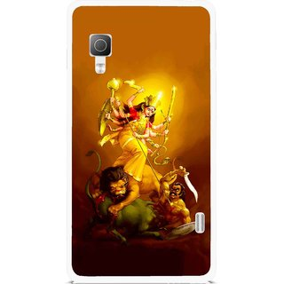 Snooky Printed Maa Durga Mobile Back Cover For Lg Optimus L5II E455 - Multicolour