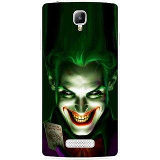 Snooky Printed Loughing Joker Mobile Back Cover For Oppo Neo 3 R831k - Green