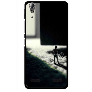 Snooky Printed God Door Mobile Back Cover For Lenovo A6000 - Multi