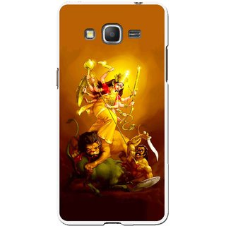 Snooky Printed Maa Durga Mobile Back Cover For Samsung Galaxy Grand Max - Multicolour
