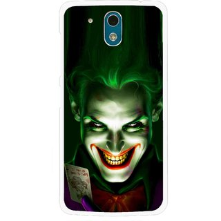 Snooky Printed Loughing Joker Mobile Back Cover For HTC Desire 326G - Green