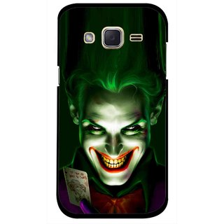 Snooky Printed Loughing Joker Mobile Back Cover For Samsung Galaxy j2 - Green