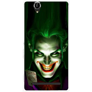 Snooky Printed Loughing Joker Mobile Back Cover For Sony Xperia T2 Ultra - Green