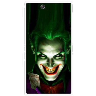 Snooky Printed Loughing Joker Mobile Back Cover For Sony Xperia Z Ultra - Green