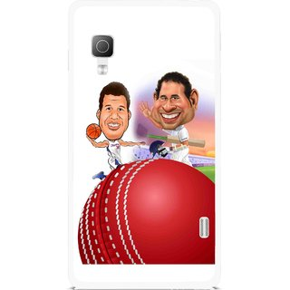Snooky Printed Play Cricket Mobile Back Cover For Lg Optimus L5II E455 - Multicolour