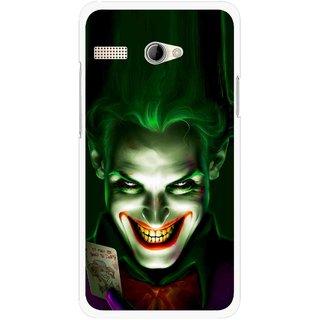 Snooky Printed Loughing Joker Mobile Back Cover For Intex Aqua 3G Pro - Green