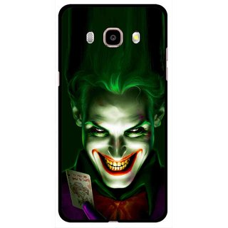 Snooky Printed Loughing Joker Mobile Back Cover For Samsung Galaxy J5 (2017) - Green