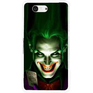 Snooky Printed Loughing Joker Mobile Back Cover For Sony Xperia Z3 Compact - Green