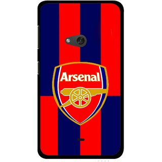 Snooky Printed Sports Logo Mobile Back Cover For Nokia Lumia 625 - Red