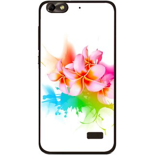 Snooky Printed Colorfull Flowers Mobile Back Cover For Huawei Honor 4C - Multi