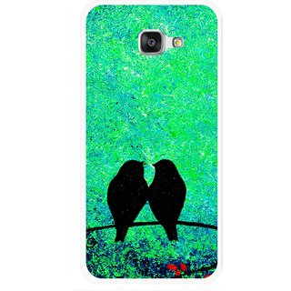 Snooky Printed Love Birds Mobile Back Cover For Samsung Galaxy A7 2016 - Green