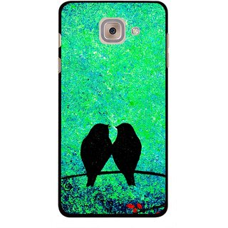 Snooky Printed Love Birds Mobile Back Cover For Samsung Galaxy J7 Max - Green