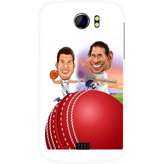 Snooky Printed Play Cricket Mobile Back Cover For Micromax Canvas 2 A110 - Multicolour
