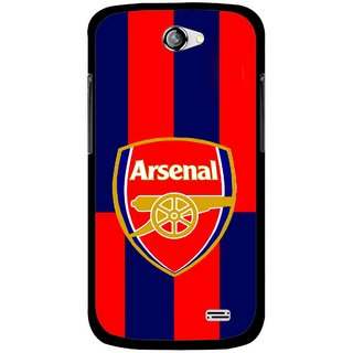 Snooky Printed Sports Logo Mobile Back Cover For Gionee Pioneer P2 - Red