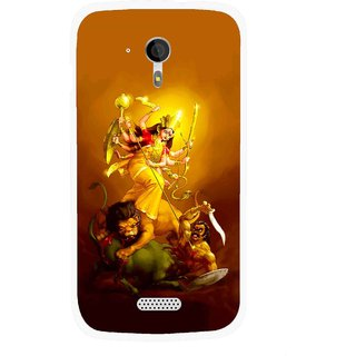 Snooky Printed Maa Durga Mobile Back Cover For Micromax A116 - Multicolour