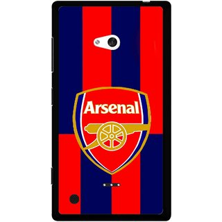 Snooky Printed Sports Logo Mobile Back Cover For Nokia Lumia 720 - Red