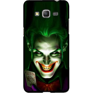 Snooky Printed Loughing Joker Mobile Back Cover For Samsung Galaxy Grand Max - Green