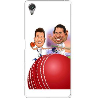 Snooky Printed Play Cricket Mobile Back Cover For Sony Xperia X - Multicolour