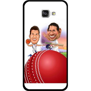 Snooky Printed Play Cricket Mobile Back Cover For Samsung Galaxy A7 2016 - Multicolour