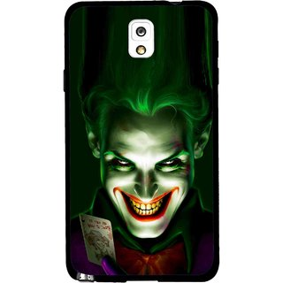 Snooky Printed Loughing Joker Mobile Back Cover For Samsung Galaxy Note 3 - Green
