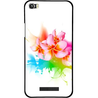 Snooky Printed Colorfull Flowers Mobile Back Cover For Lava Iris X8 - Multi