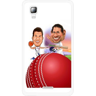 Snooky Printed Play Cricket Mobile Back Cover For Micromax Canvas Doodle 3 A102 - Multicolour