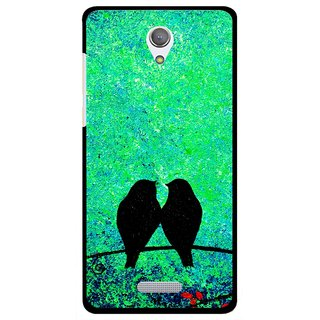 Snooky Printed Love Birds Mobile Back Cover For Gionee Marathon M4 - Green