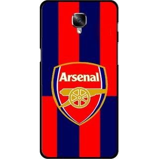 Snooky Printed Sports Logo Mobile Back Cover For OnePlus 3 - Red
