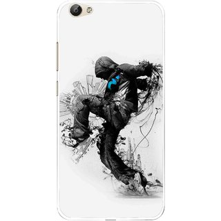 Snooky Printed Enjoying Life Mobile Back Cover For Vivo Y55 - Multi
