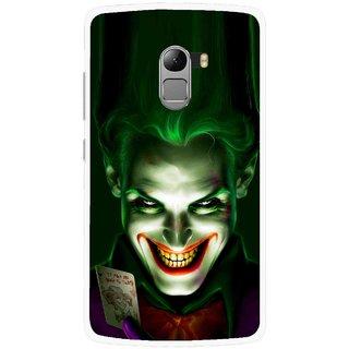 Snooky Printed Loughing Joker Mobile Back Cover For Lenovo K4 Note - Green