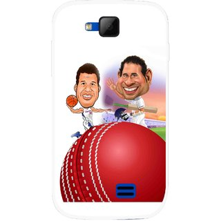 Snooky Printed Play Cricket Mobile Back Cover For Micromax Canvas Fun A63 - Multicolour