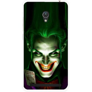 Snooky Printed Loughing Joker Mobile Back Cover For Asus Zenfone Go ZC451TG - Green