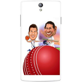 Snooky Printed Play Cricket Mobile Back Cover For Oppo Find 5 Mini - Multicolour