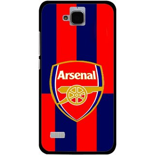 Snooky Printed Sports Logo Mobile Back Cover For Huawei Honor Holly - Red