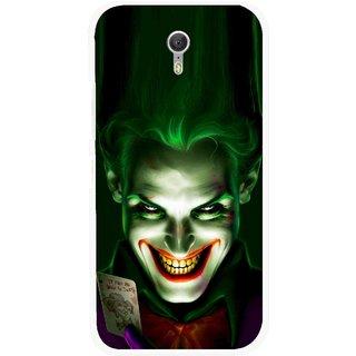 Snooky Printed Loughing Joker Mobile Back Cover For Lenovo Zuk Z1 - Green